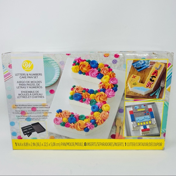 Wilton   Letters and Numbers Cake Pan